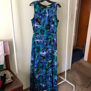Eliza J Floral Maxi Summer Chiffon Dress